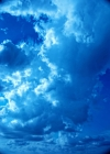 Fascinating clouds in a bright blue sky