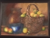 Oranges, Blue Bowl and Basket