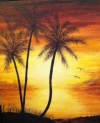 Three Palms at Sunset ACWG