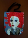 Artist Original Design Bag  Queen of Hearts